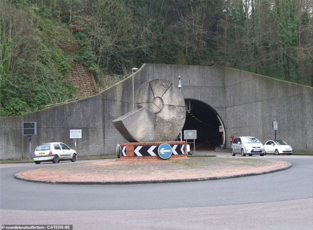 APRIL: Locals in Lewes have dubbed the concrete structure on this roundabout as Brian the Snail - a reference to The Magic Roundabout character. But the sculpture is actually depicting an ammonite, which are found in abundance in the chalk cliffs of the East Sussex area, which was under the sea millions of years ago. The backdrop is the entrance to the Cuilfail Tunnel.