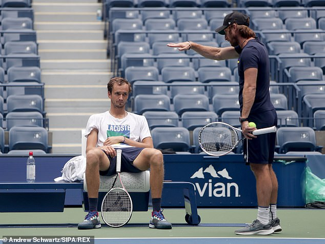 Medvedev can be a complicated character and coachGilles Cervara has helped to guide him