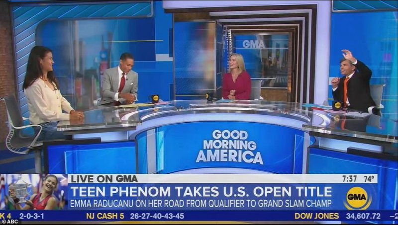 Speaking on GMA,Raducanu today put her success at the US Open down to her 'tough' and 'very, very hard to please' parents