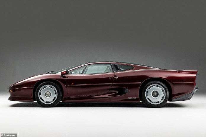 Barely powered British supercar sells for a record fee: This 1993 Jaguar XJ220 – one of only 275 examples ever built – has covered only 381 miles from new.  It sold for a record £460,000 auction on Saturday... but there's a catch