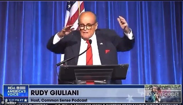 'Yes I had a Scotch. But I was not drunk. There is a deliberate attempt [by] the left wing to paint me that way,' former New York Mayor Rudy Giuliani told DailyMail.com in an interview Sunday evening