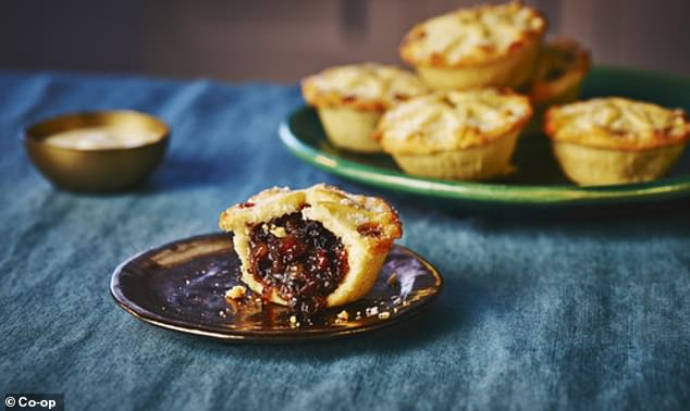 Sales of mince pies are being brought forward by the Co-op, which issued this publicity image