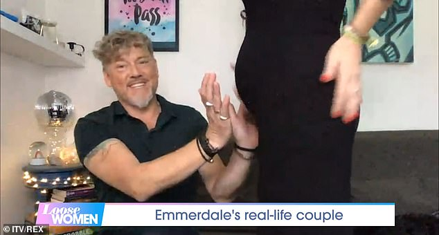Oh baby! Last September, the Emmerdale actress showed off her bump for the first time since announcing her pregnancy and chatted about delaying her wedding plans on Loose Women