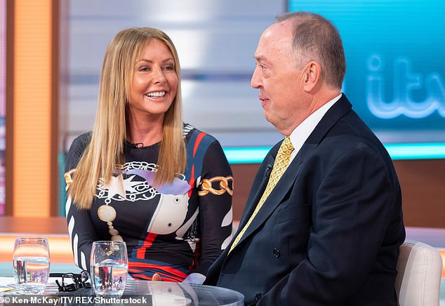Charity work: She explained how Anton set up a charity, the Cleft Lip And Palate Association, for babies born in Romania who are put into an orphanage as their mums struggle to feed them due to their condition (pictured together on GMB in 2019)