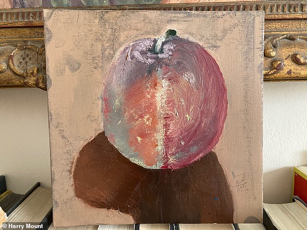 Above is Harry's finished still life, which 'refused to jump into the third dimension'
