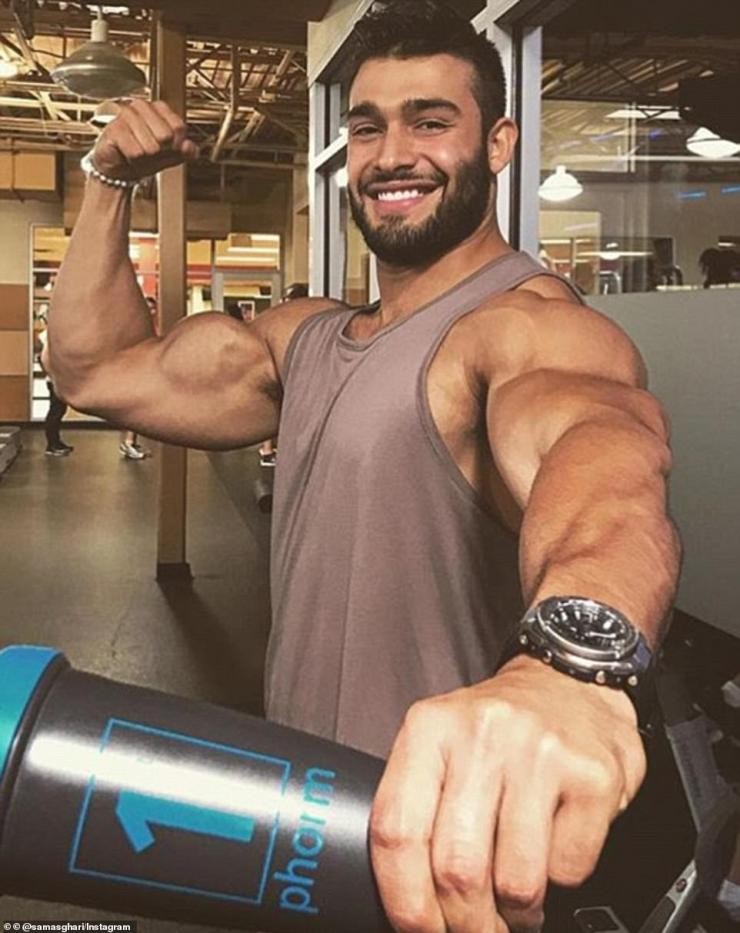 Educated: Sam enlisted himself on nutrition and personal training courses where he developed a new found love for fitness and he now maintains a healthier seven to nine per cent body fat