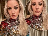 Ellie Goulding oozes glamour in glitzy multi-coloured sequin dress