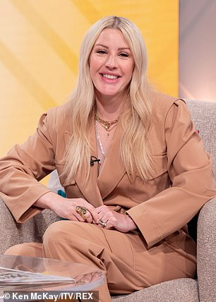 Working mum: Ellie,who sported Hannah Martin Jewellery for the appearance, went on to talk to Lorraine about juggling her high-flying career in the music industry with motherhood