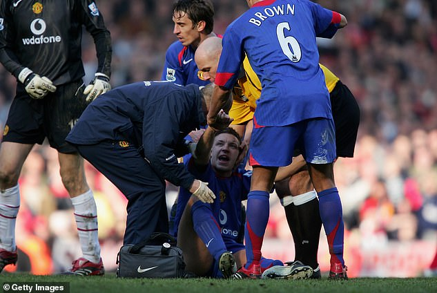 Former Leeds and Man United player Alan Smith suffered a broken bone and dislocated ankle while playing for United at Liverpool in the FA Cup fifth round as recently as 2006
