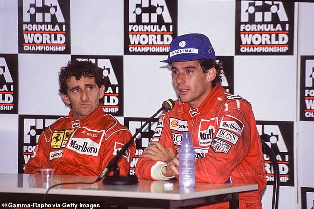 The fierce rivalry evokes memories of Alain Prost (L) and Ayrton Senna more than 30 years ago