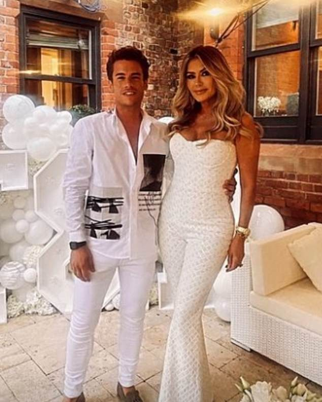 Wow! Her mum Dawn looked phenomenal in a tight white jumpsuit