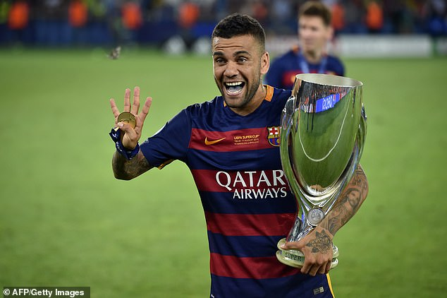 Alves won 23 trophies when he was at Barcelona, including six LaLiga titles with them
