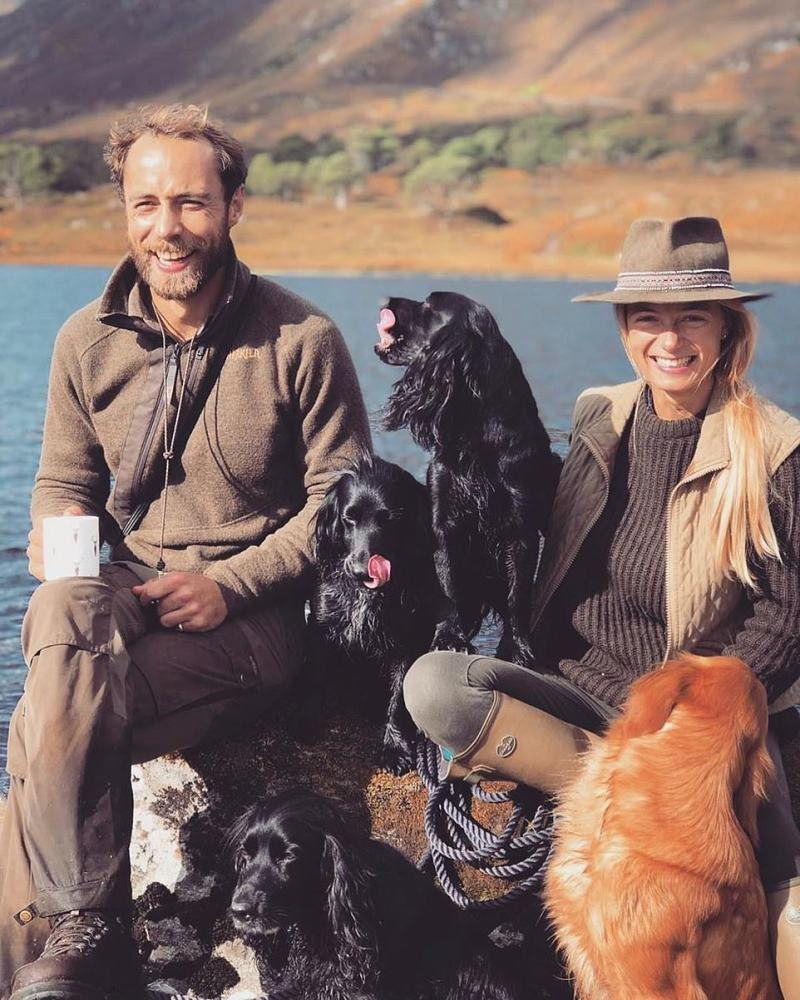 James Middleton shared his first family photo of himself in 2019 with his fiancee and dogs, thanking his friends for their support during his battle with depression