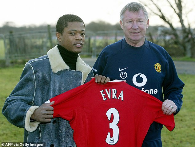 Sir AlexFerguson (right) questioned whether he was right to give Patrice Evra (left) a shot