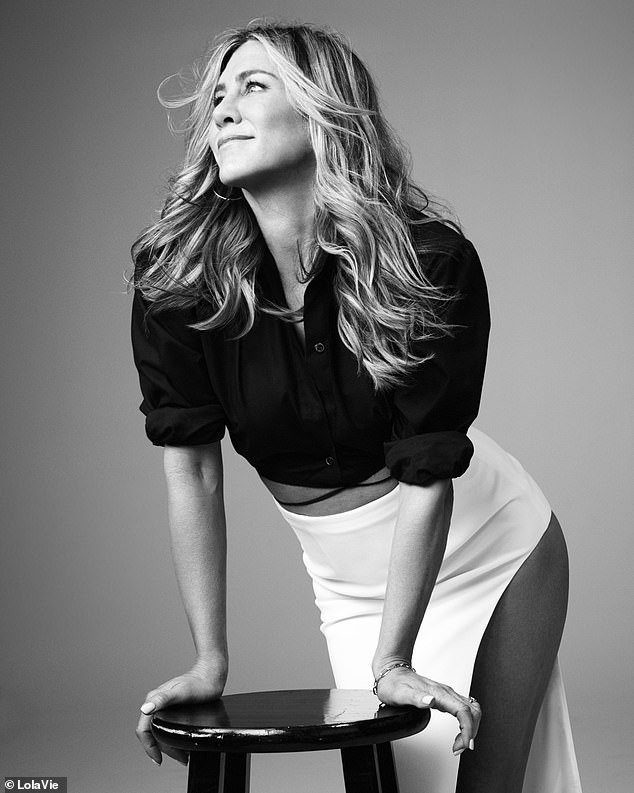 Making some extra coin: Aniston has just launched her LolaVie hair care line
