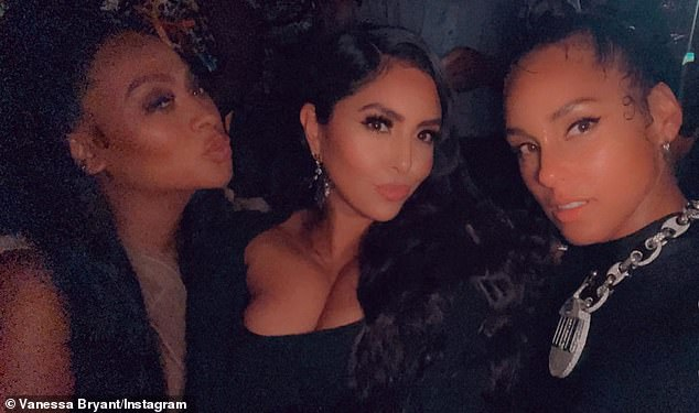 Girls night: The widow of Kobe Bryant spent the party with Lala Anthony, the wife of Carmelo Anthony, and singer Alicia Keys