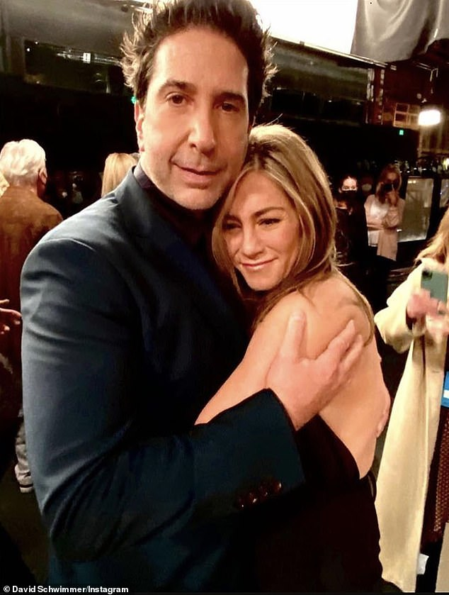 'That was bizarre': A month after Jennifer Aniston and David Schwimmer's reps both denied romance rumors, the 52-year-old Emmy winner again confirmed she's not dating her former Friends leading man