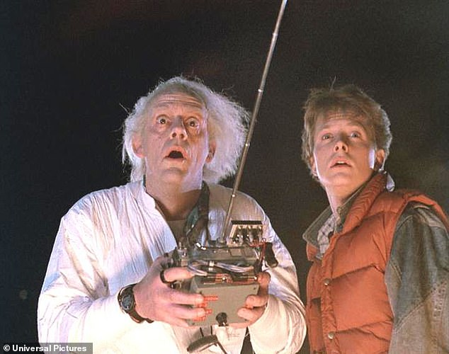 One to watch: The 1985 blockbuster and pop culture phenomenon Back To The Future has been adapted into a new musical adventure (Christopher and Michael J Fox are pictured in the 1985 movie)