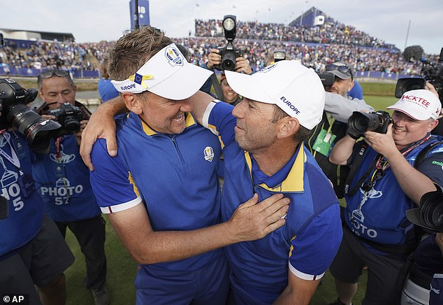 Poulter, nicknamed 'The Postman', (left) is in Europe's Ryder Cup squad as a captain's pick