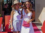 Sam Faiers she joins Ashley Cole's girlfriend Sharon Canu in Saint-Tropez for SailGP