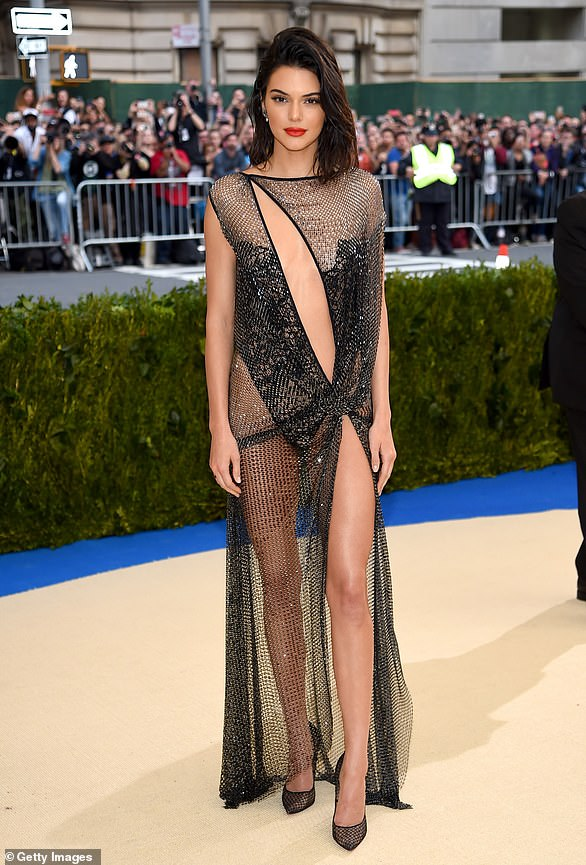 Almost naked:t was a daring sheer black gown for 2017. She had on no bra and only a thong for her undies which exposed her bottom
