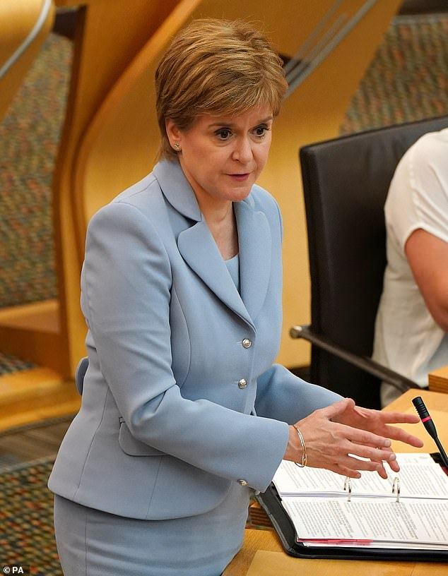 First Minister Nicola Sturgeon (pictured) today told the broadcaster she was not aware of the issue. However she promised that Government officials in Scotland - which has the highest drug death rate in Europe - would investigate