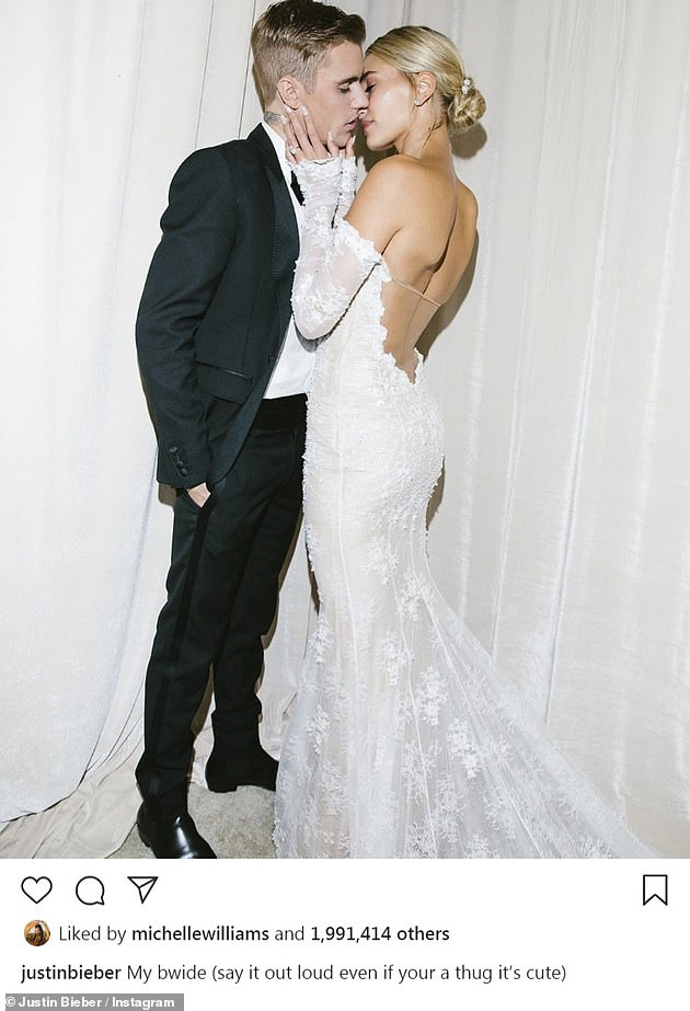 Happily ever after:Justin and Hailey, who got their marriage license from a New York City courthouse last year, met in 2009 after her dad Stephen Baldwin introduced them