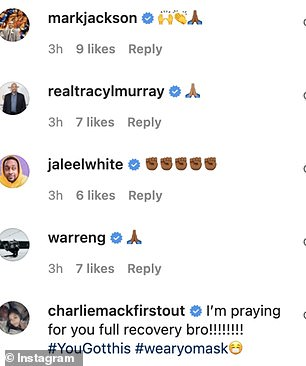 Ceballos received an outpouring of support on social media after Monday's announcement. In addition to former NBA player and coach Mark Jackson, actor Jaleel White and retired NFL quarterback Rodney Peete also offered encouragement