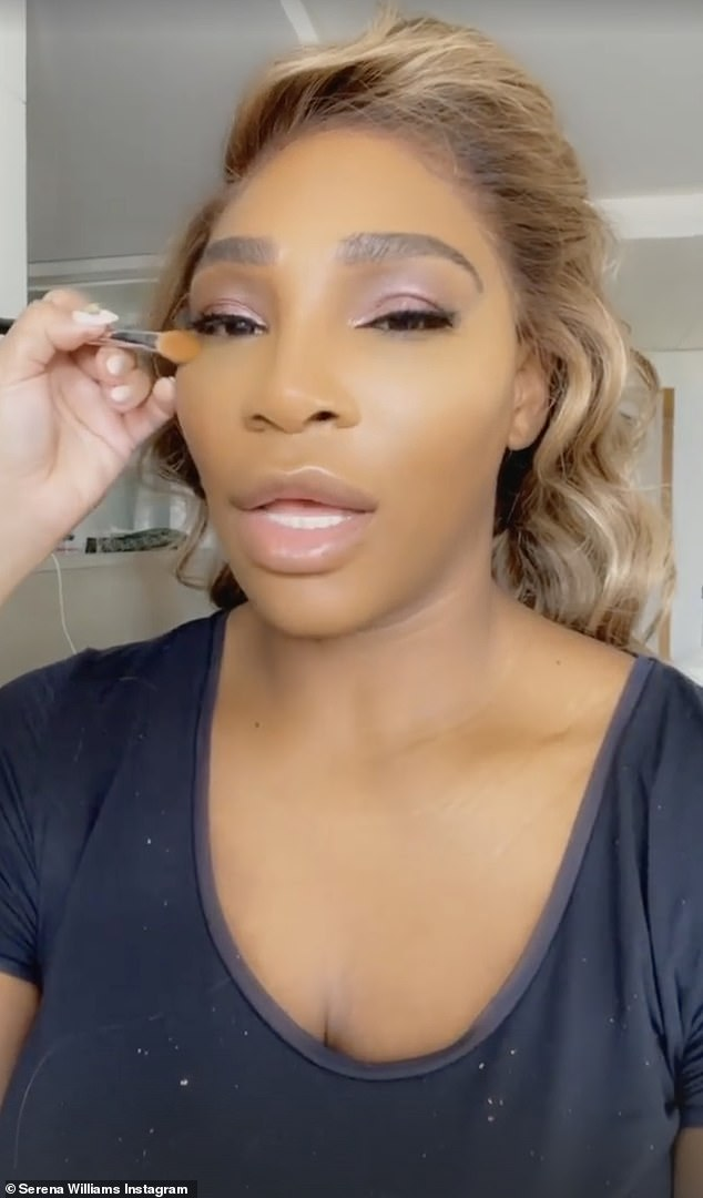 She was seen getting glam: And though it is not known if Serena Williams is hitting the Met Gala, she was seen getting all made up