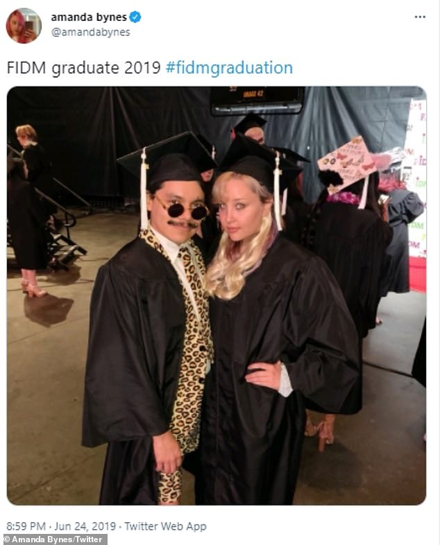 'She is now considering perfume in addition to a clothing line': Amanda's attorney David A. Esquibias told People in April that she lives by the beach and is pursuing another degree at Fashion Institute of Design & Merchandising after earning her associate's degree there in 2019