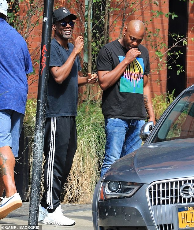 Two of the funniest men alive:Dave Chappelle and Chris Rock spent Monday cracking jokes and laughing uproariously