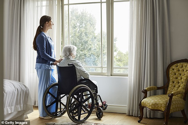 Nursing homes often have inadequate staff, which causes them to distribute antipsychotics drugs to sedated patients so they require less care (file image)