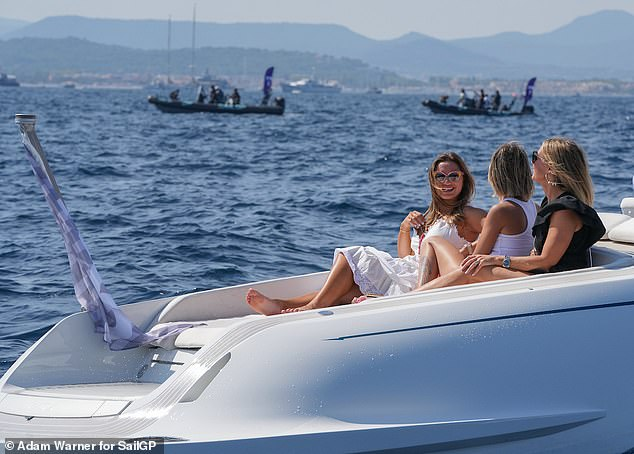 Glam!The pair looked glamorous as they spent some quality time together on the French Riviera, chatting as they lounged on a yacht
