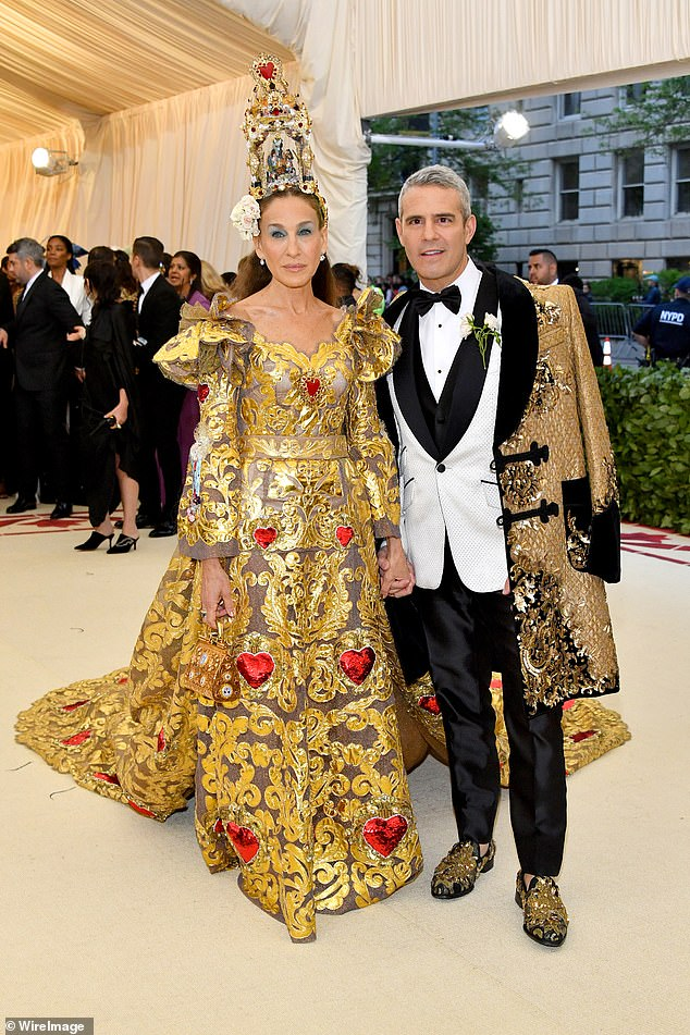Sarah Jessica Parker is busy filming, and her frequent date Andy Cohen said he's sitting this one out, too (pictured in 2018)