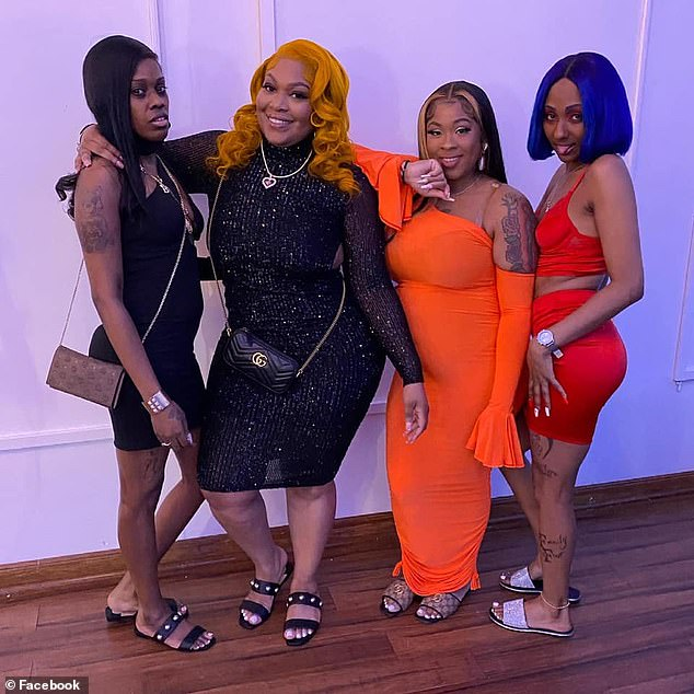 Shanice Young (second from right) is pictured here with her sister, Metania (second from left) and friends in Harlem