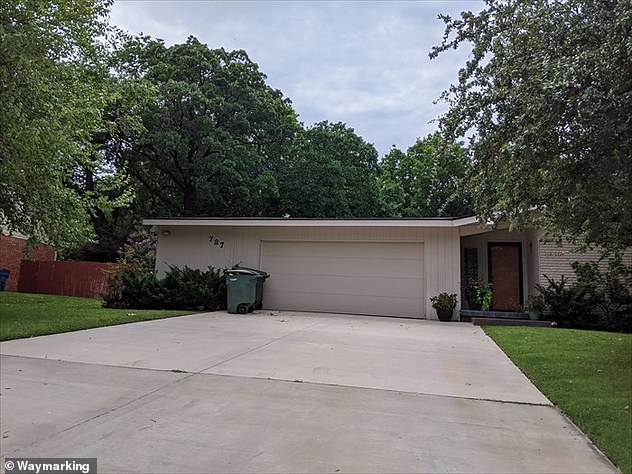 Businessman Howell was shot and killed in the driveway of his parents' Edmond home (pictured) and investigators say the suspect then fled in a Suburban
