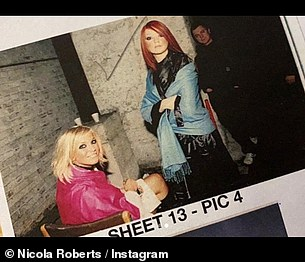 Memories: Nicola said 'my heart is aching' as she posted photos of the pair on their first video shoot for Sound of the Underground back in 2002 - shortly after they were formed on Popstars: The Rivals