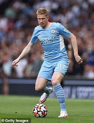 Manchester City's Kevin De Bruyne is another Premier League legend Neville drew parallels with