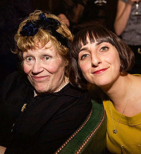 British artists Charlotte Johnson Wahl and Miriam Elia attend the Groucho Club's Maverick Awards in London, England