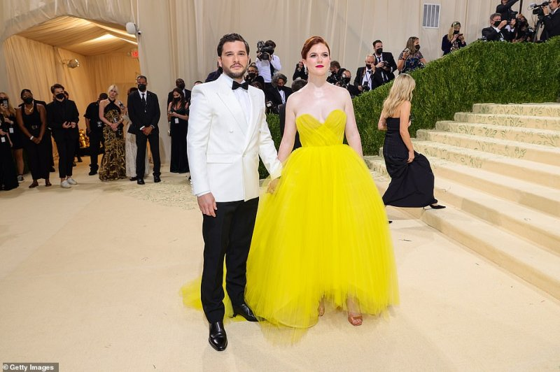 Couple:Rose attended the star-studded event alongside her husband Kit Harington