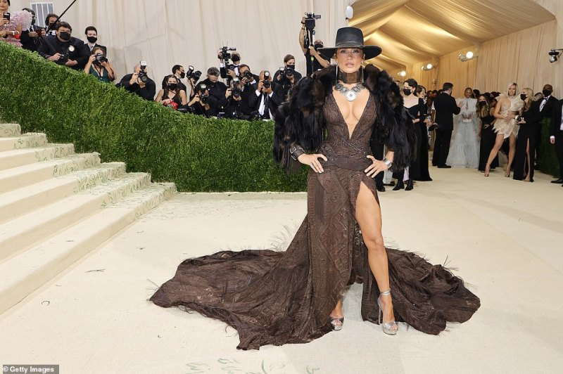 Wow! Jennifer Lopez made jaws drop as she made her highly-anticipated arrival to the 2021 Met Gala on Monday evening in New York City