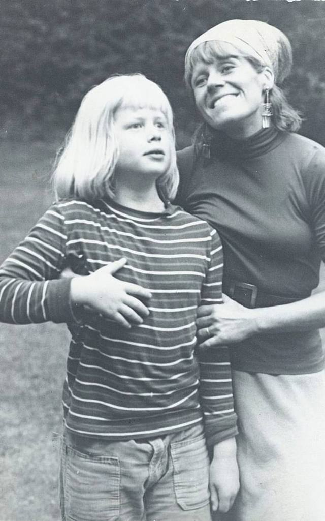 Boris Johnson is said to have called his mother (pictured here as a young boy with his mother) the 'supreme authority' in his family. The Prime Minister also previously credited her with instilling in him 'the equal value of every human life'