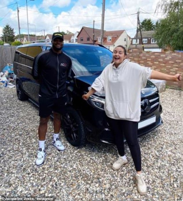New whip:The influencer purchased her new whip from former West Ham star Marlon Harewood, 42, who founded the car firm AC13 Premier alongside Andrew Cole