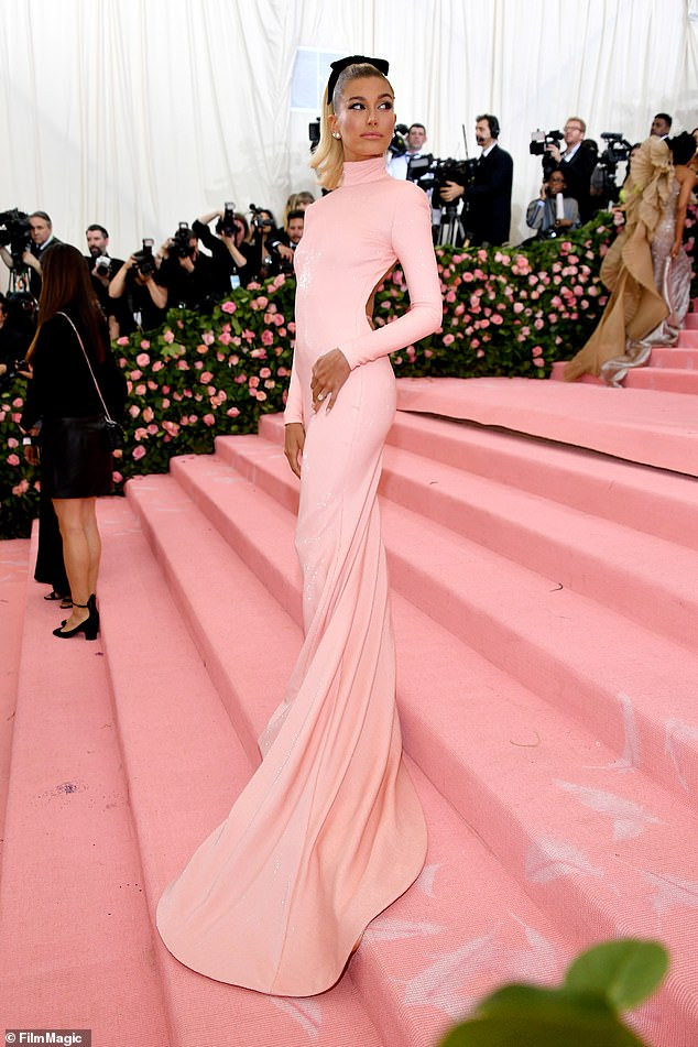 Pretty in pink: Most recently Hailey attended the Met Gala solo in May 2019