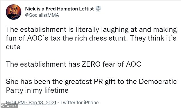 But AOC was backed by supporters who agreed with the premise of her message and the purpose of her stunt