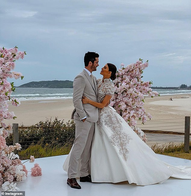 Love wins:Erin and Ben finally tied the knot on February 13 in Byron Bay, after rescheduling their wedding twice due to the coronavirus pandemic