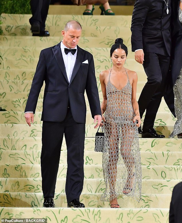 Hottest duo: The pair had avoided walking the red carpet together but were seen leaving hand-in-hand later in the evening