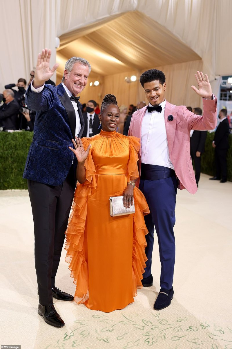 The mayor's appearance at the Met Gala comes less than two months before his term is set to finish and a new candidate takes over