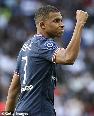 PSG forward Mbappe