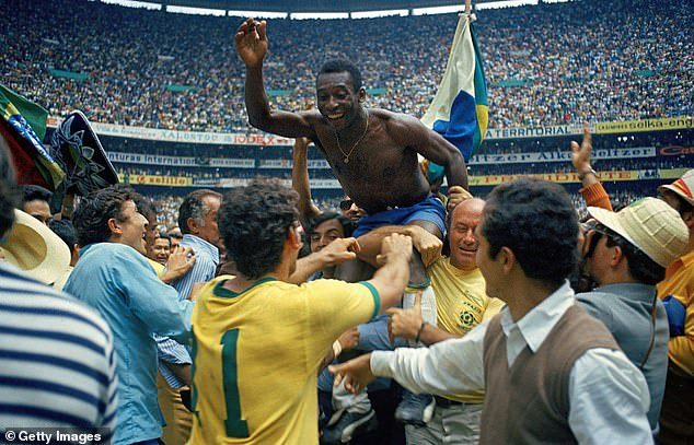 All-time great Pele has won the World Cup three times and is his country's leading goalscorer